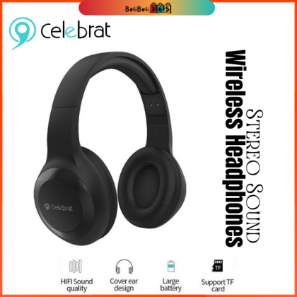 Celebrat A23 Wireless Headphones 无线蓝牙耳机Bluetooth V5.0 /AUX Playback /TF Card Playback /Draped Ear Pads for Comfortable  Around Ear Style
